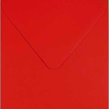 1 Briefumschlag 8 x 8 cm 80 x 80 mm Farbe: Rosen Rot Verschluss: feuchtklebend Grammatur: 100 g/m²