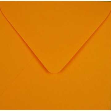 1 Briefumschläge 8 x 8 cm 80 x 80 mm Farbe:Hell Orange Verschluss: feuchtklebend Grammatur: 100 g/m²