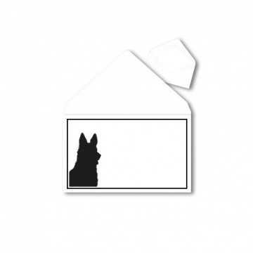 1Trauerumschlag für Tiere (Hunde) B6 120 x 176 mm Polar Weiß mit Schwarzen Rahmen
