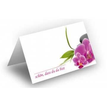 Wunderschöne Tischkarten (Orchideen zartrosa) UV-Lack glänzend