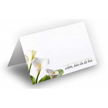Wunderschöne Tischkarten (Calla) UV-Lack glänzend