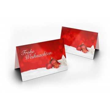 """Wunderschöne Weihnachtskarten """"Frohe Weihnachten mit Weihnachtskugeln"""", A6,"""