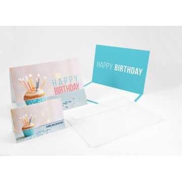 """Wunderschöne Geburtstagskarten + Umschläge + Tischkarten Happy Birthday ( Muffin ) """", A6,"""