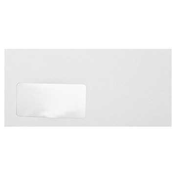 Briefumschläge Polar Weiß Din lang 11 x 22 cm mit Haftstreifen und Fenster, Grammatur 120 g/m²