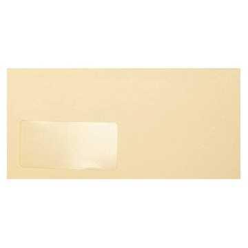 Briefumschläge Creme Din lang 11 x 22 cm mit Haftstreifen und Fenster, Grammatur 120 g/m²