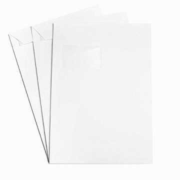 Versandtaschen DIN C4 Polar Weiß 120 g/m² - 229 x 324 mm 22,9 x 32,4 cm - selbstklebend mit Abziehstreifen - mit Fenster