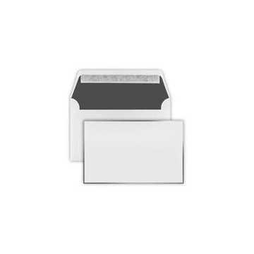 Trauer Briefumschläge (120 x 191 mm) Weiß , Verschluss-Technik: Haftklebung mit Abziehstreifen Grammatur: