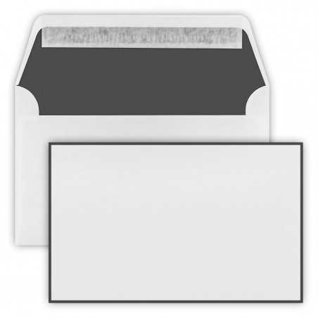 1 Trauer Briefumschläge (120 x 191 mm) Weiß , Verschluss-Technik: Haftklebung mit Abziehstreifen Grammatur: 100 g/m²