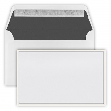 Trauer Briefumschläge (120 x 191 mm) Weiß ,2- farbiger Rand Verschluss-Technik: Haftklebung mit Abziehstreifen