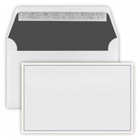 1 Trauer Briefumschläge (120 x 191 mm) Weiß ,2- farbiger Rand Verschluss-Technik: Haftklebung mit Abziehstreifen