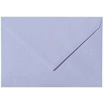 Briefumschläge B6 DIN (12,5 x 17,6 cm) Flieder, Verschluss-Technik: Freuchtklebend mit Dreieck Lasche