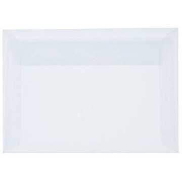1-Briefumschläge C6 DIN (114-162 cm) - Transparent, Querlasche mit Abziehstreifen (Weiß) ! Grammatur: 100 g/m²