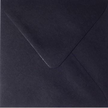 1 Briefumschlag 15 x 15 cm 150 x 150 mm Schwarz Verschluss: feuchtklebend