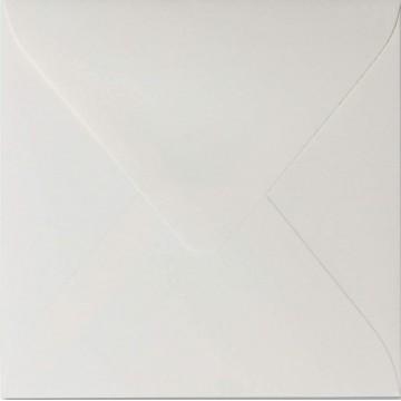 1 Briefumschlag 15 x 15 cm 150 x 150 mm Hell Grau Verschluss: feuchtklebend