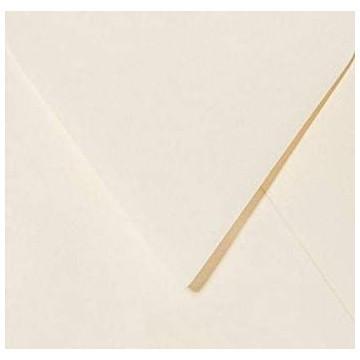 1 Briefumschlag 15,0 x 15,0 cm 150 x 150 mm Zart Creme Verschluss: feuchtklebend