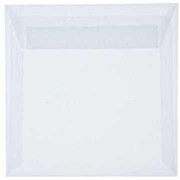 1 Briefumschlag 18 x 18 cm 180 x 180 mm Transparente/ Weiß Verschluss: Kuverts mit Haftstreifen
