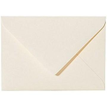 1 Briefumschlag B6 DIN (12,5 x 17,6 cm) Zart Creme, Verschluss-Technik: Haftklebend mit Dreieck Lasche
