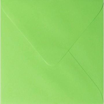 1 Briefumschlag 15,5 x 15,5 cm 155 x 155 mm Hell Grün Verschluss: feuchtklebend