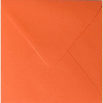 1 Briefumschlag 15,5 x 15,5 cm 155 x 155 mm Mandarine Verschluss: feuchtklebend