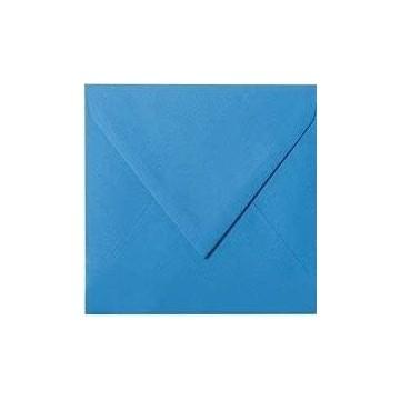 1 Briefumschlag 12,5 x 12,5 cm 125 x 125 mm Blau Verschluss: feuchtklebend