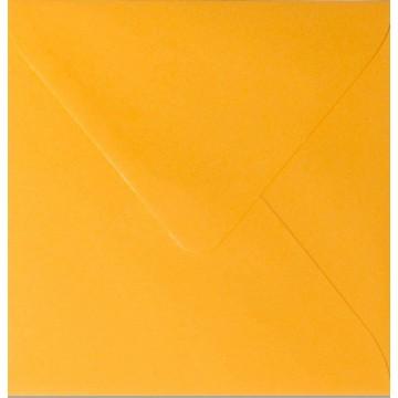 1 Briefumschlag 12,5 x 12,5 cm 125 x 125 mm Orange Verschluss: feuchtklebend
