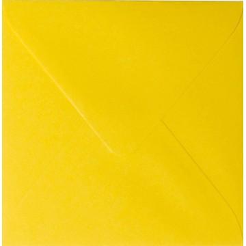 1 Briefumschlag 12,5 x 12,5 cm 125 x 125 mm Intensiv Gelb Verschluss: feuchtklebend