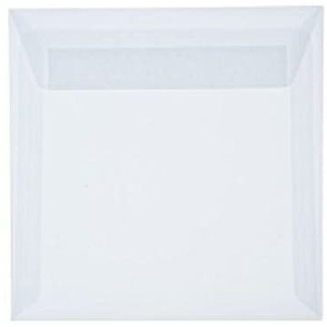 1 Briefumschlag 12,5 x 12,5 cm 125 x 125 mm Transparente/ Weiß Verschluss: Kuverts mit Haftstreifen