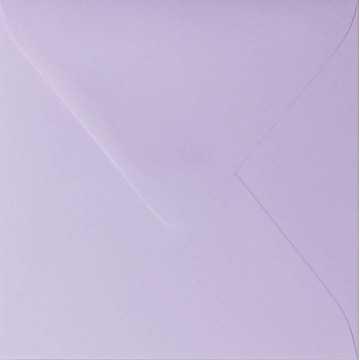 1 Briefumschlag 13,0 x 13,0 cm 130 x 130 mm Flieder Verschluss: feuchtklebend