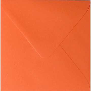 1 Briefumschlag 13,0 x 13,0 cm 130 x 130 mm Mandarine Verschluss: feuchtklebend