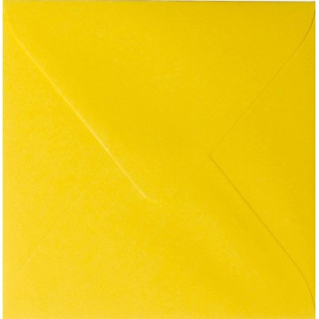 1 Briefumschlag 13,0 x 13,0 cm 130 x 130 mm Intensiv Gelb Verschluss: feuchtklebend