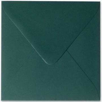 1 Briefumschlag 14,0 x 14,0 cm 140 x 140 mm Tannen Grün Verschluss: feuchtklebend