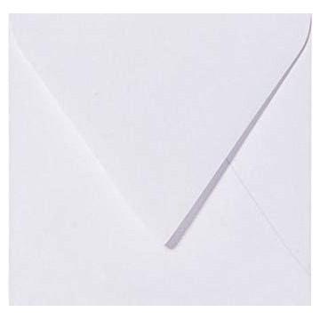 1 Briefumschlag 10,0 x 10,0 cm 100 x 100 mm Weiß Verschluss: feuchtklebend