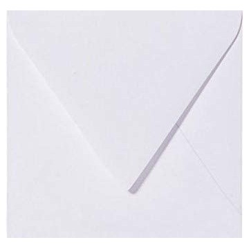 1 Briefumschlag 11,0 x 11,0 cm 110 x 110 mm Weiß Verschluss: feuchtklebend