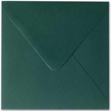 1 Briefumschläge 11,0 x 11,0 cm 110 x 110 mm Tannen Grün Verschluss: feuchtklebend