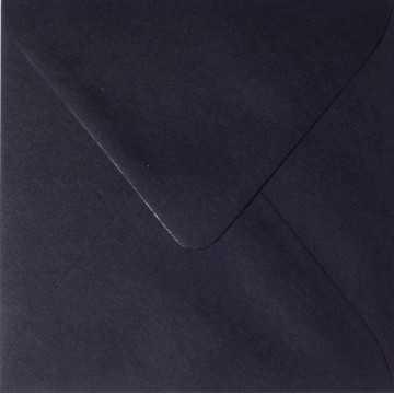 1 Briefumschlag 11,0 x 11,0 cm 110 x 110 mm Schwarz Verschluss: feuchtklebend