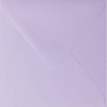 1 Briefumschlag 11,0 x 11,0 cm 110 x 110 mm Flieder Verschluss: feuchtklebend