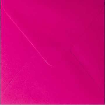 1 Briefumschlag 11,0 x 11,0 cm 110 x 110 mm Pink Verschluss: feuchtklebend