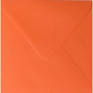 1 Briefumschlag 16,0 x 16,0 cm 160 x 160 mm Mandarine Verschluss: feuchtklebend