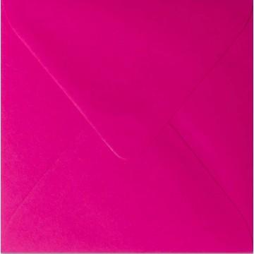 1 Briefumschlag 16,0 x 16,0 cm 160 x 160 mm Pink Verschluss: feuchtkleben
