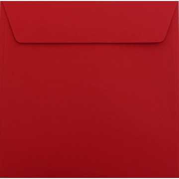 1 Briefumschlag 18,5 x 18,5 cm 185 x 185 mm Rosen Rot : Kuverts mit Haftstreifen Grammatur: 120 g/m²