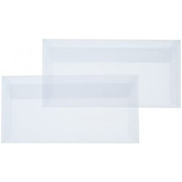 1 Briefumschlag Transparente/Permutt Weiß Din lang 11 x 22 cm mit Haftstreifen