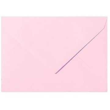 Briefumschläge B6 DIN (12,5 x 17,6 cm) Rosa , Verschluss-Technik: Freuchtklebend mit Dreieck Lasche