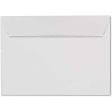 1-Briefumschlag C6 DIN (114-162 cm) - Transparent, Querlasche mit Abziehstreifen (Weiß) ! Grammatur: 100 g/m²
