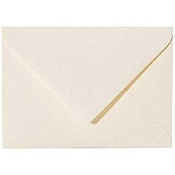 1 Briefumschlag Mini geeignet für Visitenkarten Zart Creme 6 x 9 cm Verschluss-Technik: feuchtklebend