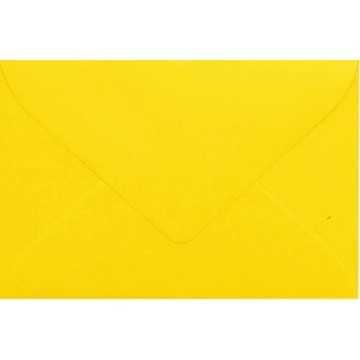 1 Briefumschlag Mini geeignet für Visitenkarten Intensiv Gelb 6 x 9 cm Verschluss-Technik: feuchtklebend