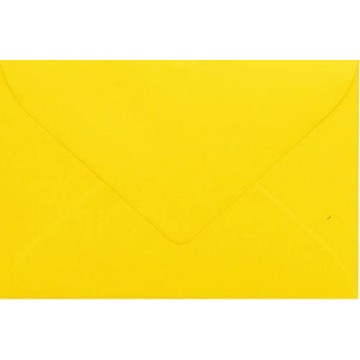 1 Briefumschlag Mini Intensiv Gelb 5,1 x 7,0 cm Verschluss-Technik: feuchtklebend
