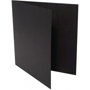 1-Quadratische Klappkarten zum selbst Beschriften in Schwarz : von der Größe 105 x 105 mm 10,5 x 10,5 cm Grammabe: 300 g/m²
