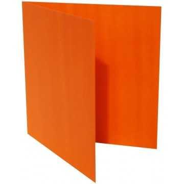 1-Quadratische Klappkarten zum selbst Beschriften in Mandarine : von der Größe 105 x 105 mm 10,5 x 10,5 cm Grammabe: 300 g/m²