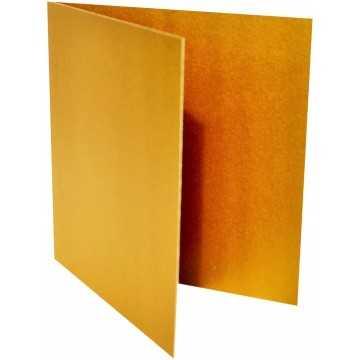 1-Quadratische Klappkarte zum selbst Beschriften in Gold Metallic von der Größe 105 x 105 mm 10,5 x 10,5 cm Grammatur: 300 g/m²
