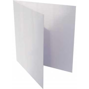 1-Quadratische Klappkarte zum selbst Beschriften in Weiß von der Größe 11 x 11 mm 110 x 110 cm Grammatur: 300 g/m²